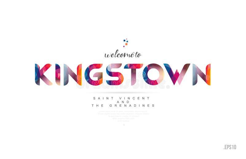 Willkommen zu Karte Kingstons St. Vincent und die Grenadinen und zu Le vektor abbildung