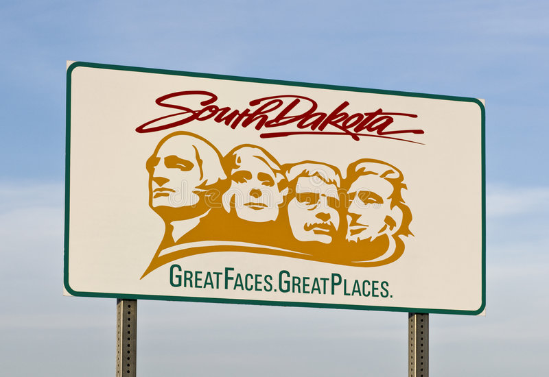 Willkommen zu South Dakota lizenzfreies stockbild