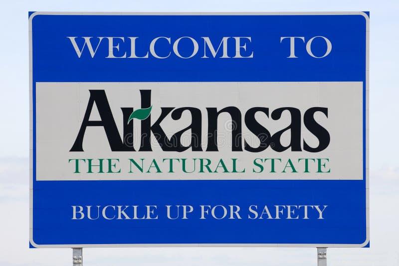 Willkommen zum Arkansas-Zeichen stockfotos