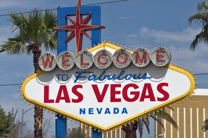 Willkommen zum fabelhaften Las- Vegaszeichen lizenzfreies stockfoto
