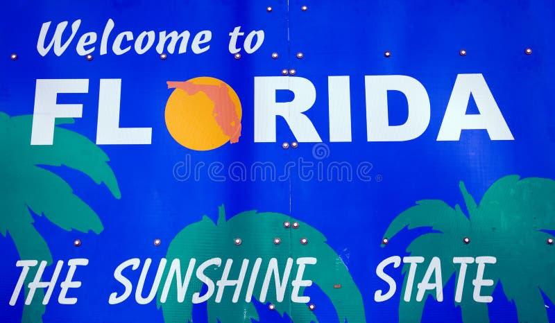 Willkommen zum Florida-Zeichen lizenzfreies stockbild