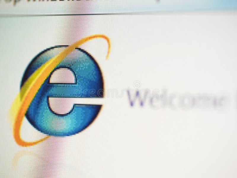 Willkommen zum Internet Explorer stock abbildung