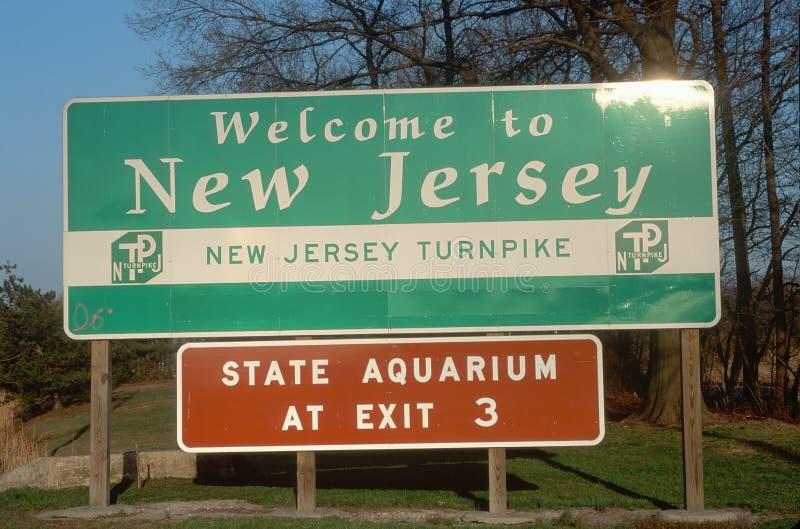 Willkommen zum Jersey-Zeichen lizenzfreies stockbild