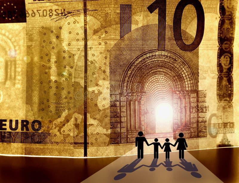 Willkommen zum Königreich des Geldes stockfotografie