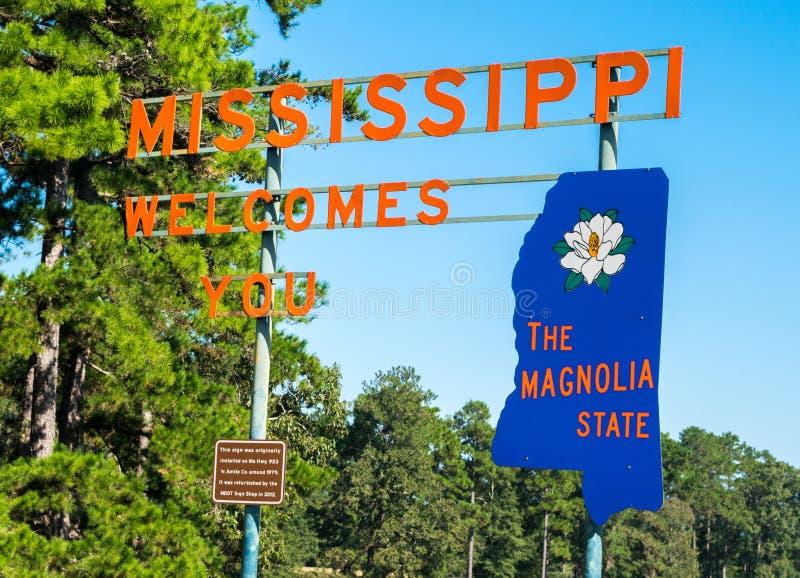 Willkommen zum Magnolien-Zustand, Mississippi stockfoto