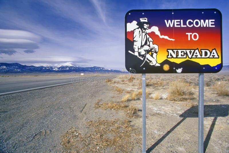 Willkommen zum Nevada-Zeichen stockfoto