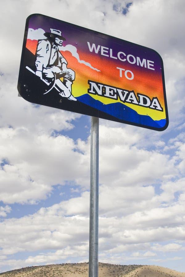 Willkommen zum Nevada-Zeichen lizenzfreie stockbilder