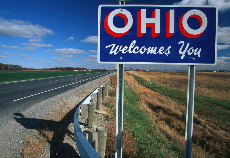 Willkommen zum Ohio-Zeichen stockfotos