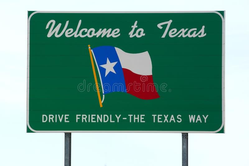 Willkommen zum Texas-Zeichen lizenzfreie stockfotografie