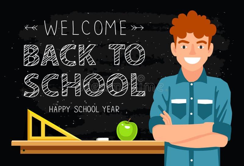 Willkommen zurück zu Schule stock abbildung