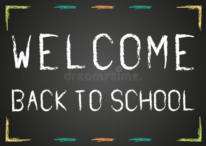 Willkommen zurück zu Schulplakat stock abbildung