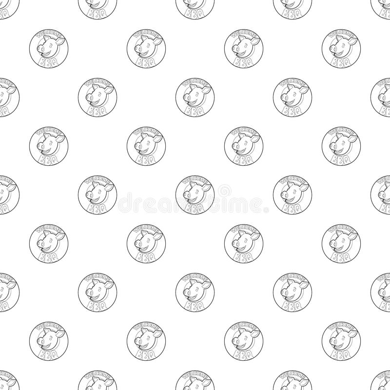 Willkommene Einladung, den Mustervektor zu grillen nahtlos stock abbildung
