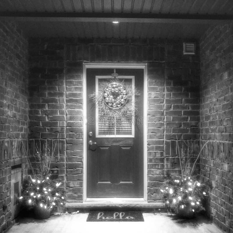 Willkommenes Haus stockfoto