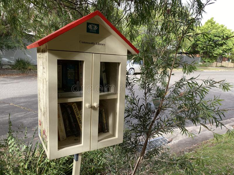 Willoughby city council community street library find a book on your way past. stock images