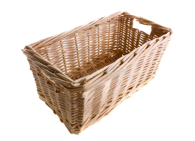 Download Willow basket stock photo. Image of carry, white, closeup - 12565680