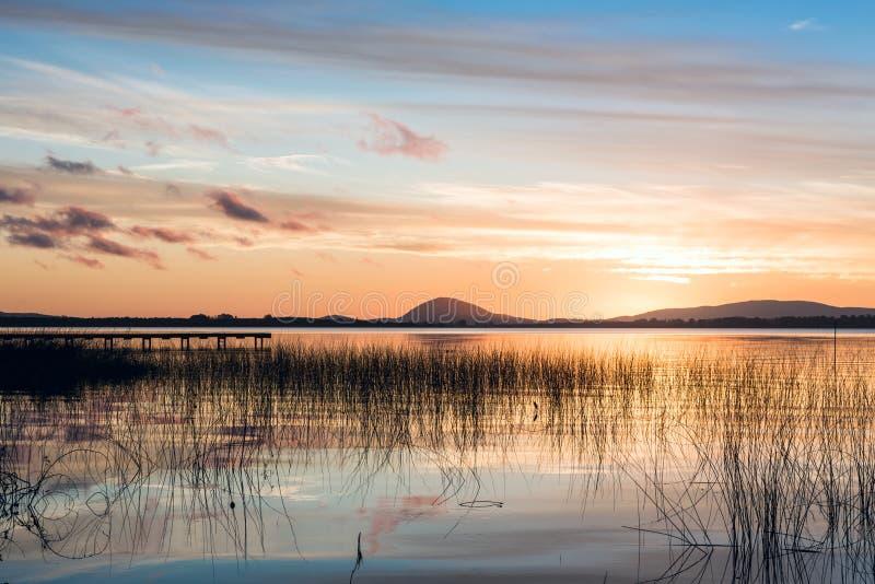 Willow Lake idilliaca in Maldonado dell'Uruguay fotografia stock libera da diritti