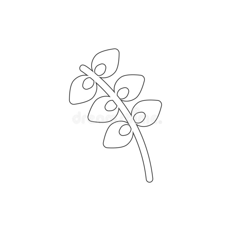 Willow outline icon. Elements of Easter illustration icon. Signs and symbols can be used for web, logo, mobile app, UI, UX vector illustration
