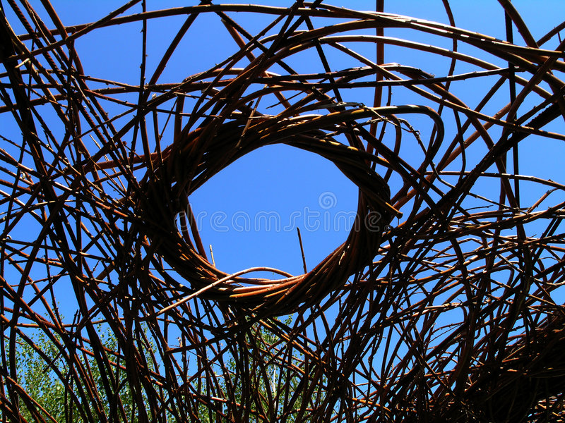 Willow weave. Sculpture made from willow royalty free stock images