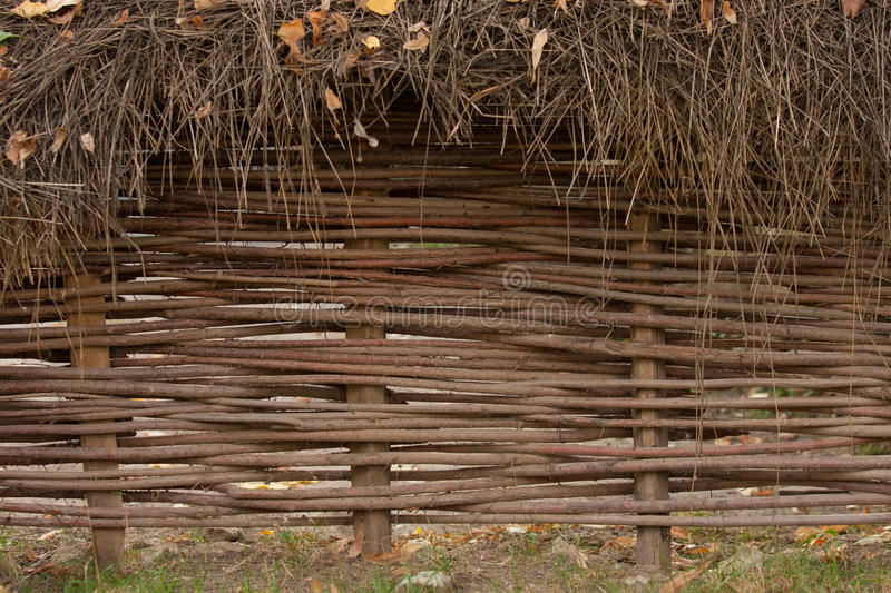 Willow wicker fence royalty free stock images