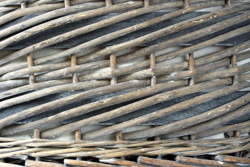 Close up of woven wicker basket, background. stock images
