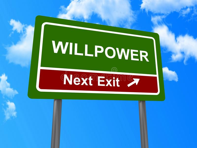 Download Willpower next exit sign stock photo. Image of willpower - 29046888