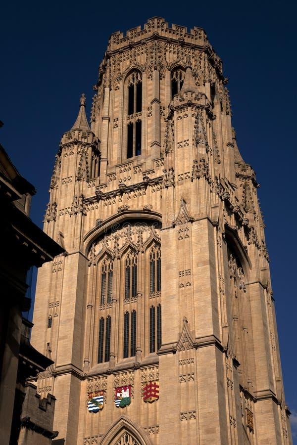 Wills Memorial Building. At Bristol University, England, UK royalty free stock images
