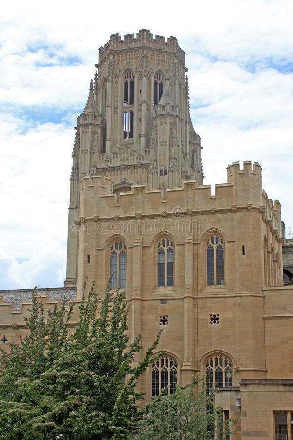 Wills Memorial Building, Bristol. Tower of the Wills Memorial building royalty free stock photo