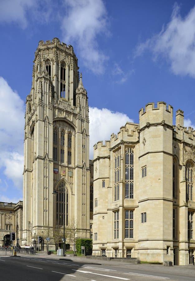 Wills Memorial Building. Queens Road, Bristol Built 1915-25 Bristol University Tower royalty free stock photos