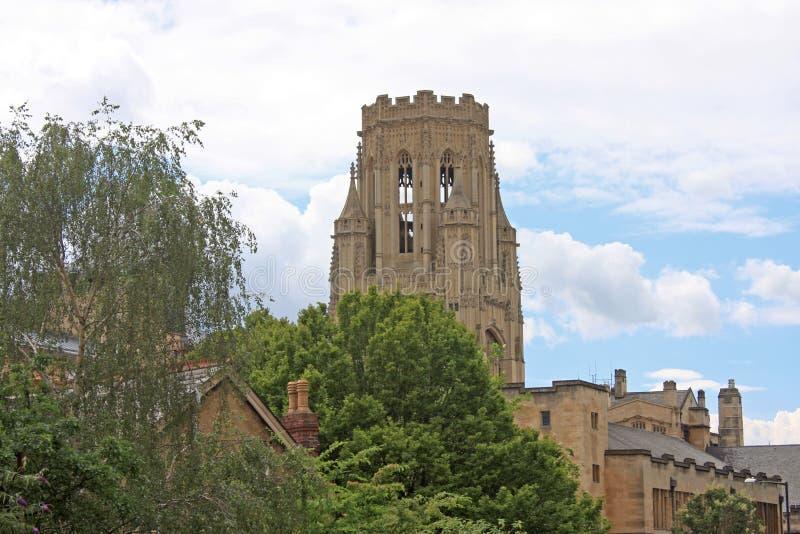 Wills Memorial Building. Tower of Wills memorial building, Bristol stock photography