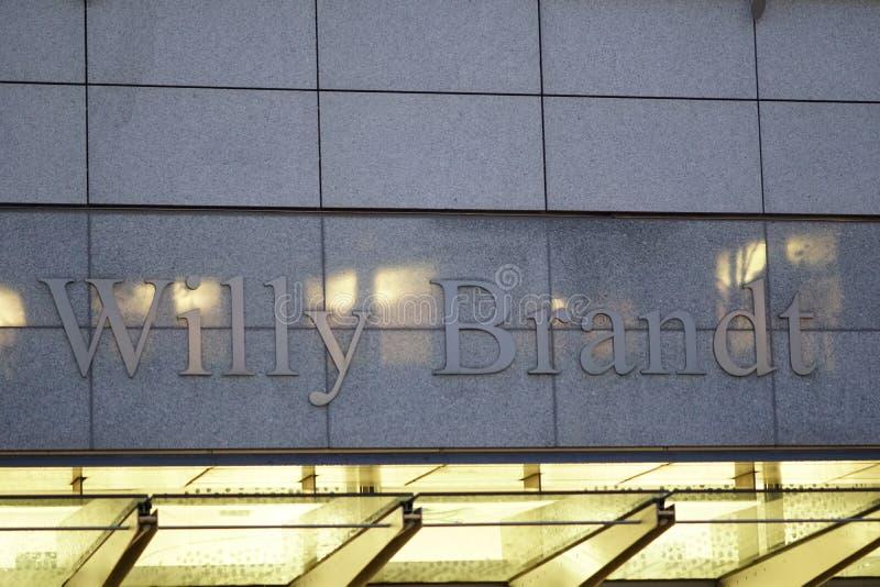 Willy Brandt Buduje WIB signage obrazy royalty free