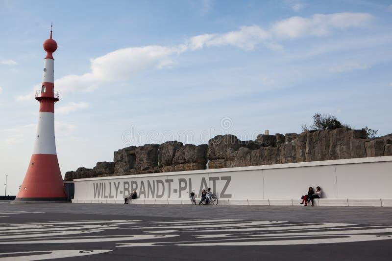 Willy Brandt Platz obrazy stock