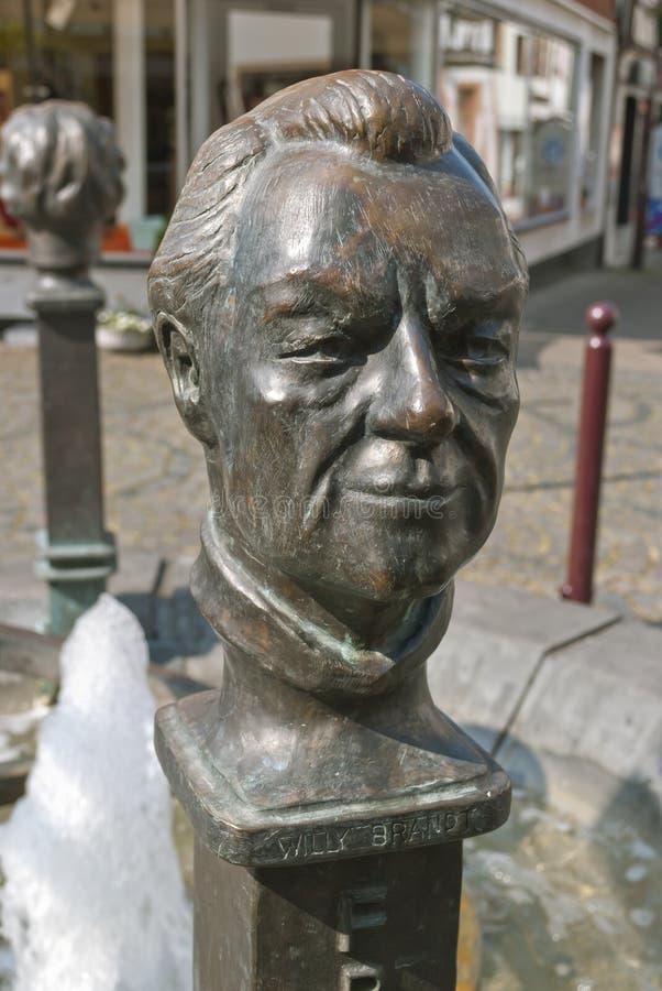 Willy Brandt statua w Unkel obrazy stock