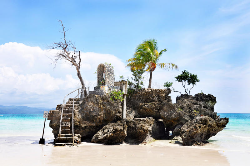 Willy rots op eiland Boracay royalty-vrije stock foto