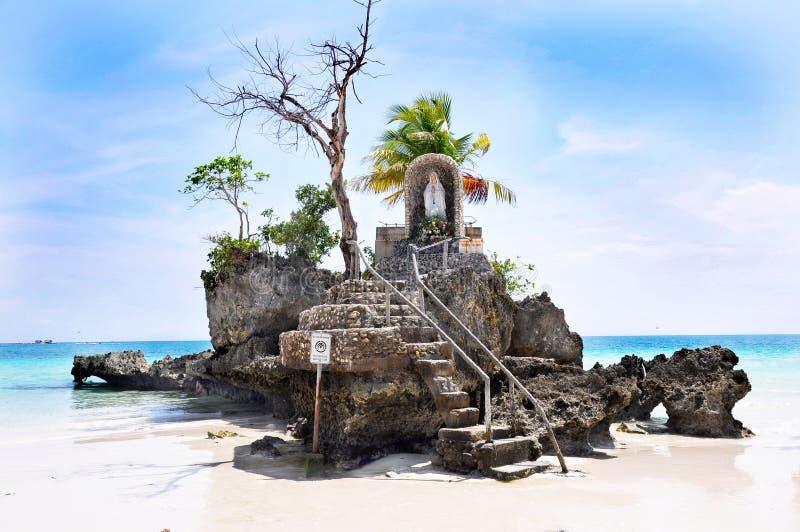 Willy rots op eiland Boracay stock fotografie