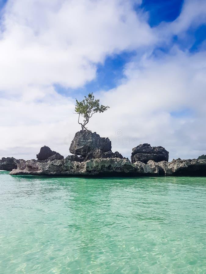 Willy ` s rots op het strand op Boracay-eiland, Filippijnen royalty-vrije stock afbeeldingen