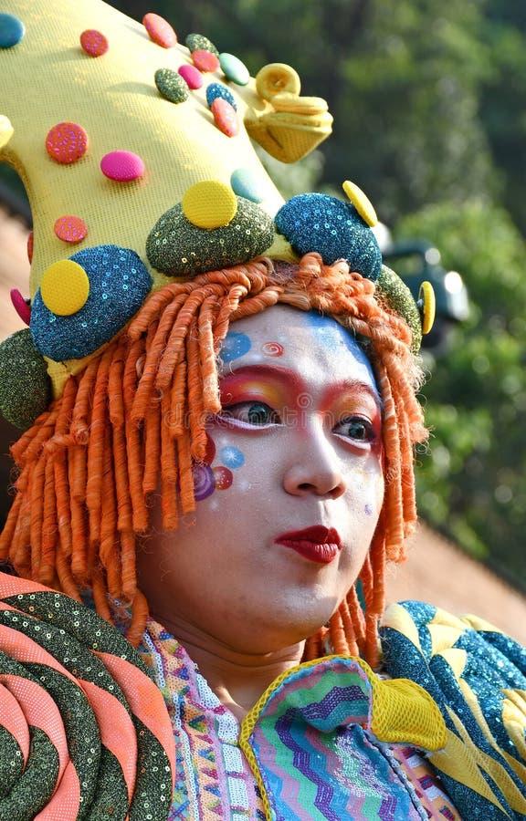 Willy Wonka Costumed Halloween Character imagem de stock