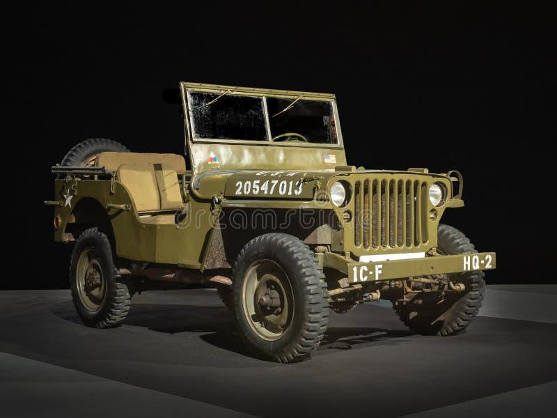 1943 Willys MB dżip przy 100 rok samochód wystawa obrazy stock