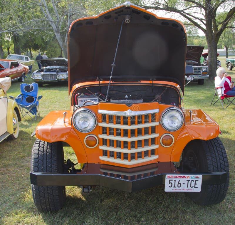 1951 Willys Stacyjnego furgonu Oszczędnościowy Frontowy widok zdjęcie royalty free