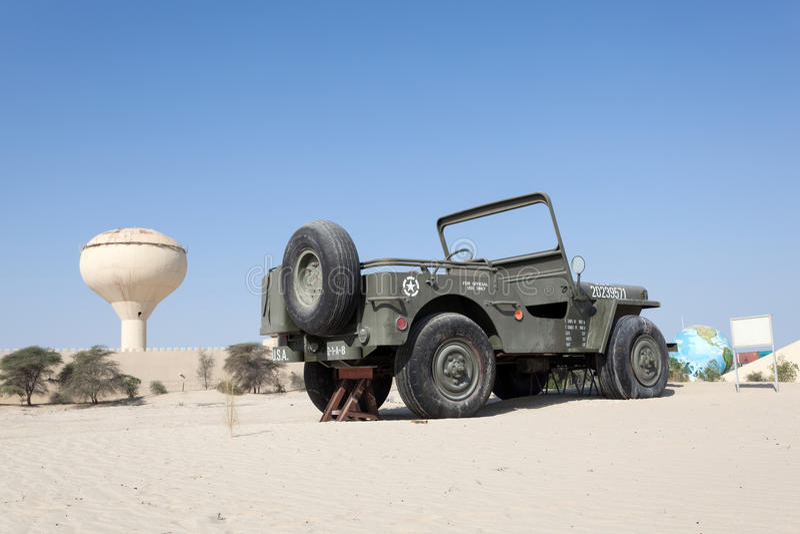 Willysjeep bij het Automuseum van Emiraten royalty-vrije stock afbeelding