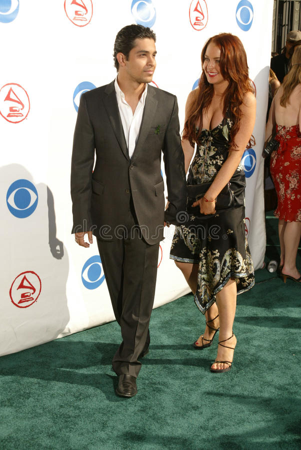 Wilmer Valderrama, Lindsay Lohan fotografia stock libera da diritti