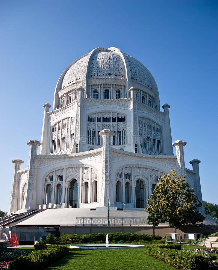 wilmette för bahaiil-tempel arkivbild