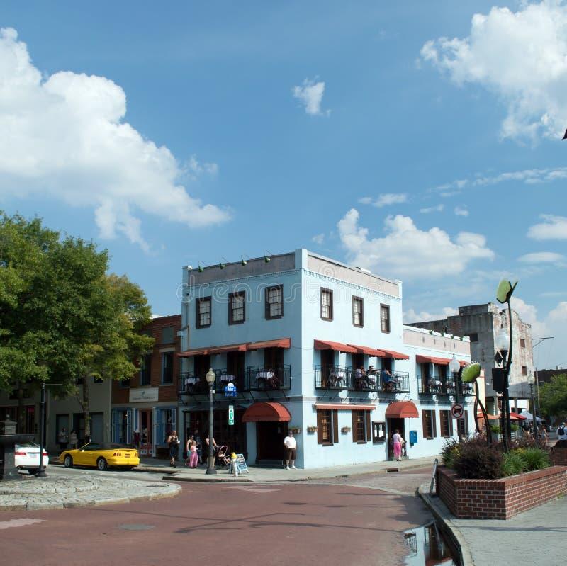 Wilmington, Augustus van NC de V.S. 17,2014 het Landende Restaurant van RiverBoat royalty-vrije stock foto