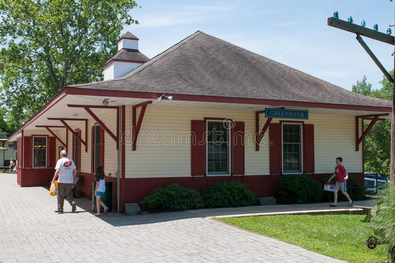 WILMINGTON, DE 15 JUIN : Wilmington et voie ferrée occidentale est une ligne de train d'héritage pour des visiteurs allant sur to image libre de droits