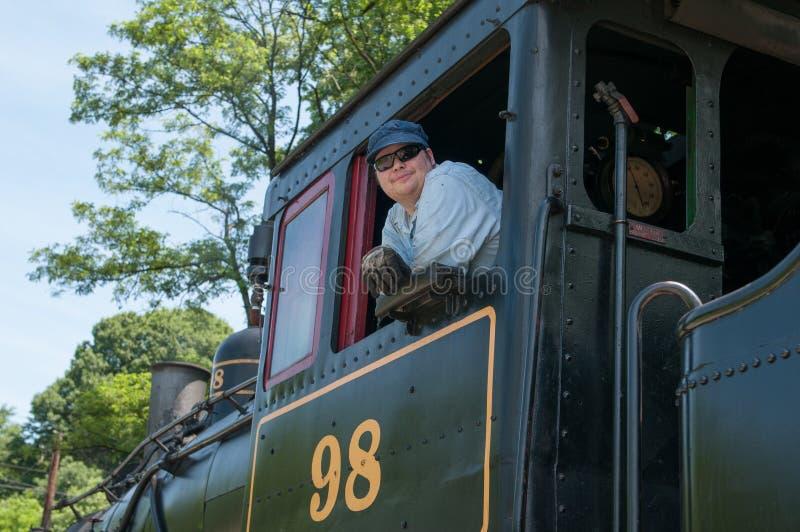 WILMINGTON, DE 15 JUIN : Wilmington et voie ferrée occidentale est une ligne de train d'héritage pour des visiteurs allant sur to image stock