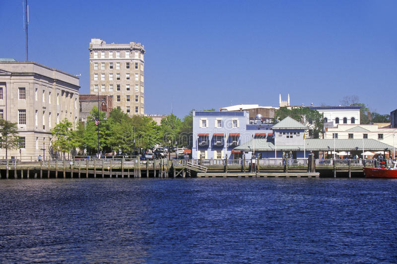 Wilmington, NC, Skyline lizenzfreie stockbilder