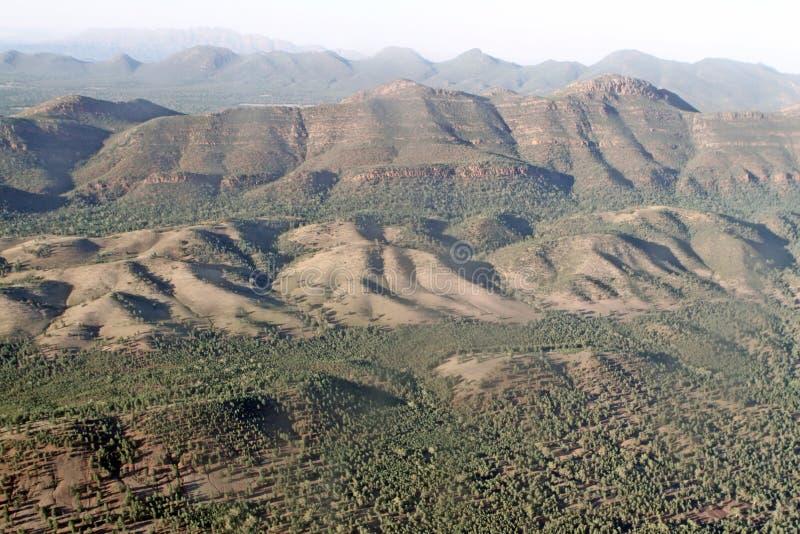 Wilpena Pound. Aerial View. Flinders Ranges National Park. Australia royalty free stock image