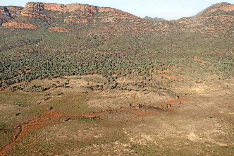 Wilpena Pound. Aerial View. Flinders Ranges National Park. Australia royalty free stock photography