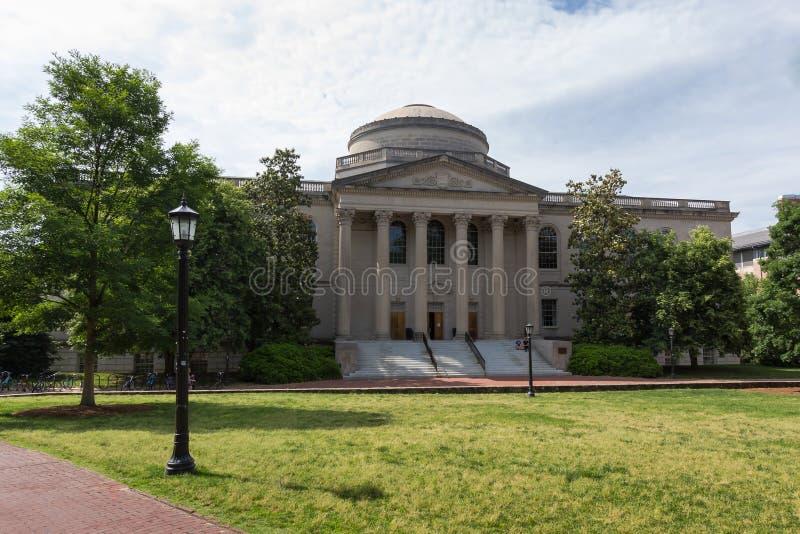 Wilson Library på denkapell kullen royaltyfri fotografi
