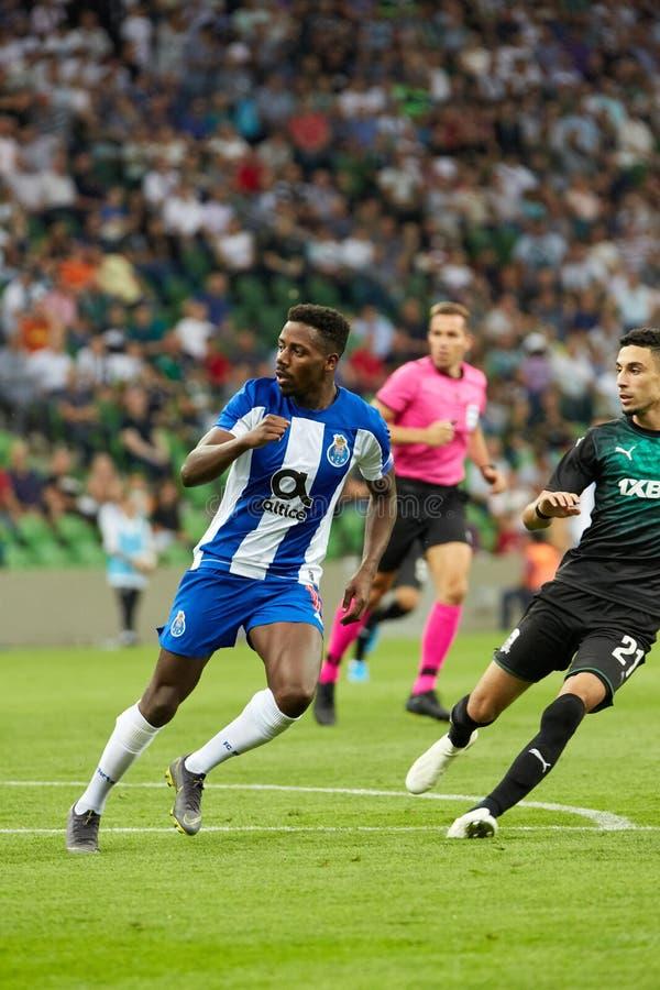 Wilson Manafa van FC Porto in actie royalty-vrije stock afbeeldingen