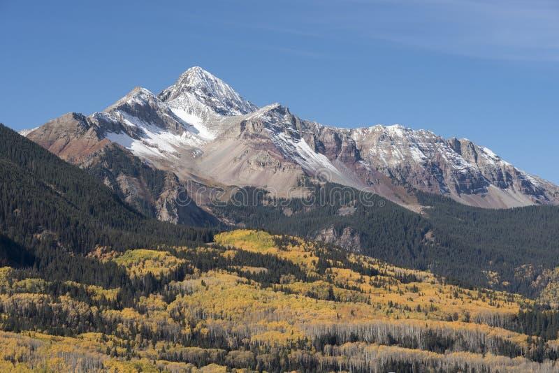 Wilson Peak dans la réserve forestière d'Uncompahgre image libre de droits